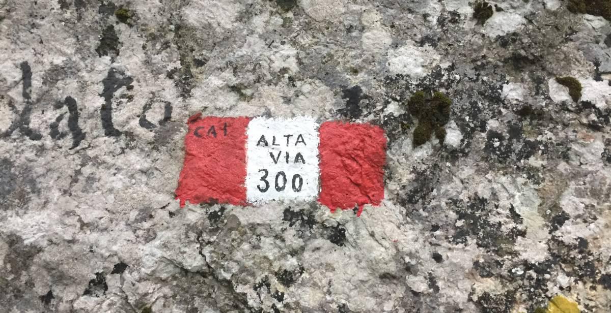 Pista de caminhada de Amalfi - alta via CAI300