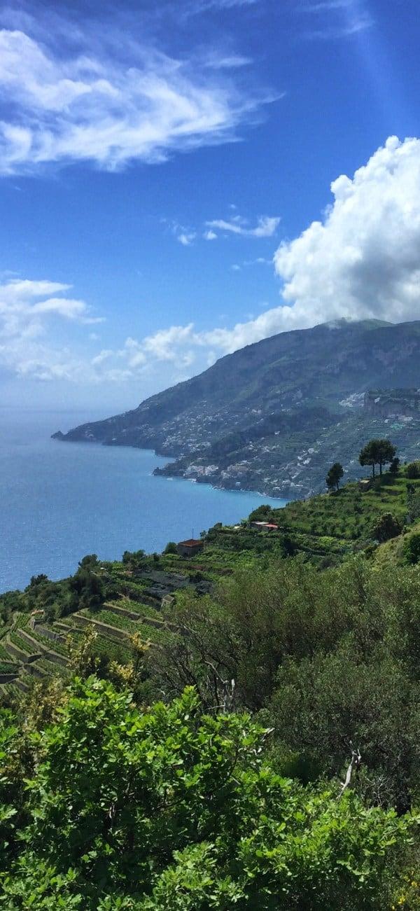 amalfi wanderweg amalfi trekking etappe2 mit blick auf die amalfiküste