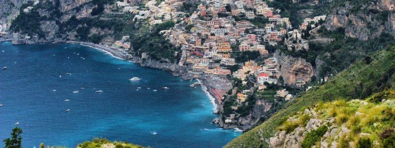 Amalfiwanderung Blick auf Positano vom Sentiero degli Dei Pfad der Götter