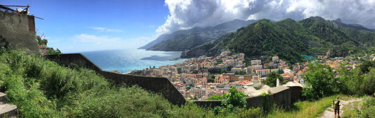 Amalfi hike stage 1 just before Maiori