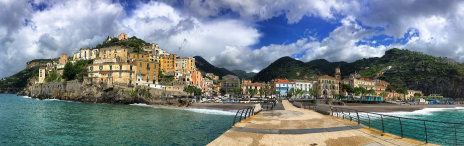 Amalfi hiking trail stage 2 Minori from the jetty