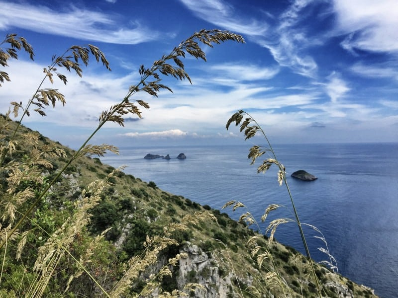 Hiking the Li Galli Islands from a distance with a view of the CAI 300