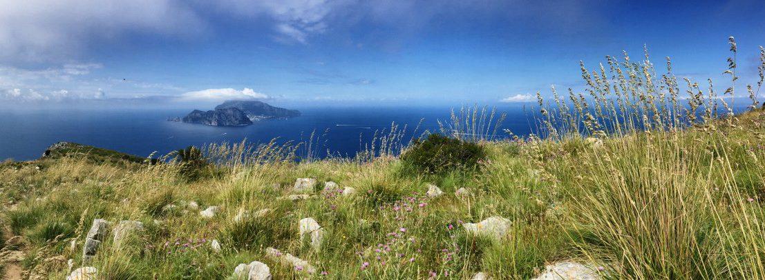 Einer der Höhepunkte am Ende der Wanderung auf dem CAI300 Capri im tiefblauen Merr