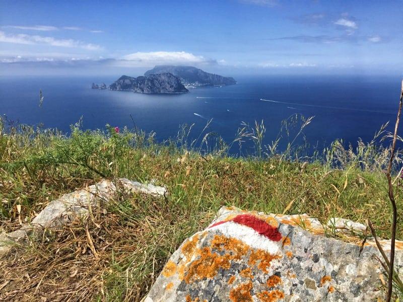 De novo e de novo Capri particularmente impressionante