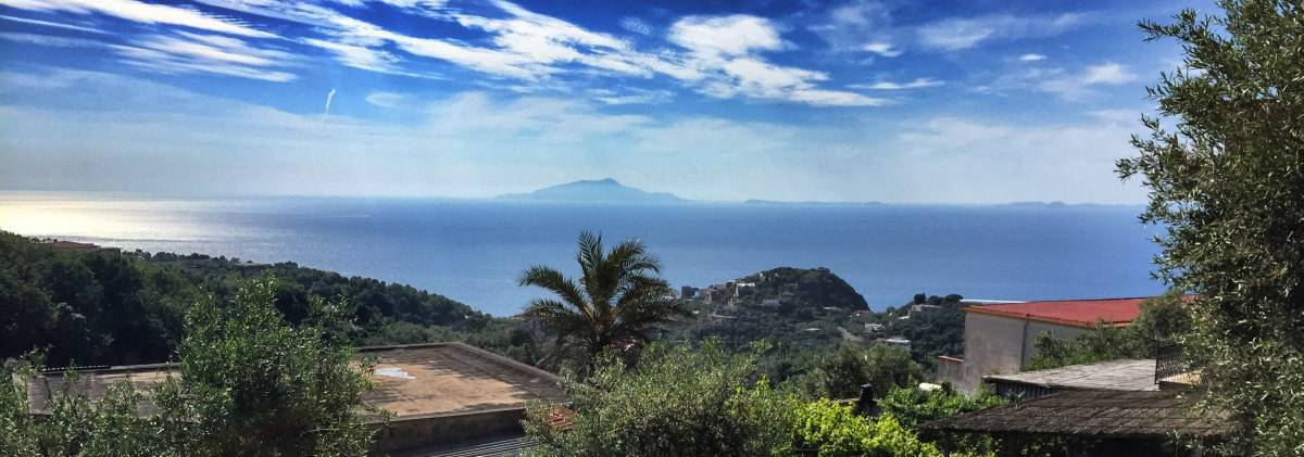 Hiking on the Amalfi Coast, stage 5 View of Ischia above Schiazzano