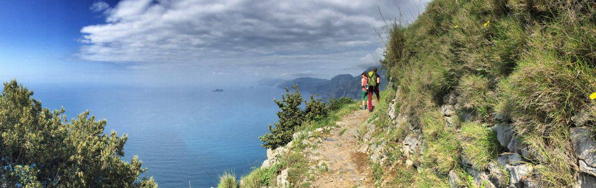 Hiking from Bomerano via Nocelle to Positano the panorama is a constant companion on the way